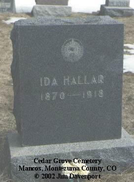 HALLAR, IDA - Montezuma County, Colorado   IDA HALLAR - Colorado Gravestone Photos