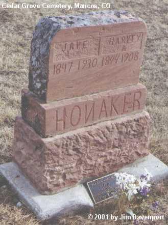 HONAKER, JANE - Montezuma County, Colorado | JANE HONAKER - Colorado Gravestone Photos