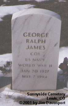 JAMES, GEORGE RALPH - Montezuma County, Colorado | GEORGE RALPH JAMES - Colorado Gravestone Photos