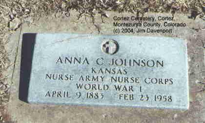 JOHNSON, ANNA C. - Montezuma County, Colorado | ANNA C. JOHNSON - Colorado Gravestone Photos