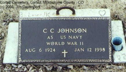 JOHNSON, C. C. - Montezuma County, Colorado | C. C. JOHNSON - Colorado Gravestone Photos