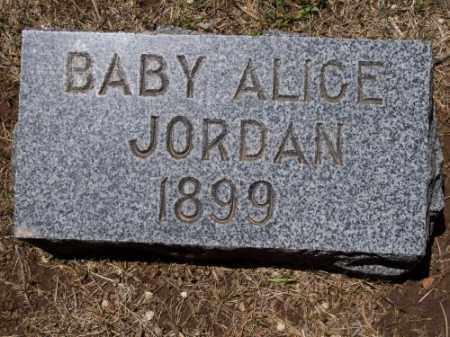 JORDAN, BABY ALICE - Montezuma County, Colorado | BABY ALICE JORDAN - Colorado Gravestone Photos