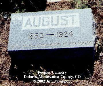 KUHLMAN, AUGUST - Montezuma County, Colorado | AUGUST KUHLMAN - Colorado Gravestone Photos