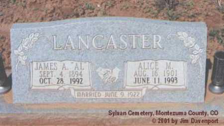LANCASTER, JAMES A. - Montezuma County, Colorado | JAMES A. LANCASTER - Colorado Gravestone Photos
