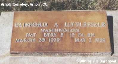 LITTLEFIELD, CLIFFORD A. - Montezuma County, Colorado | CLIFFORD A. LITTLEFIELD - Colorado Gravestone Photos