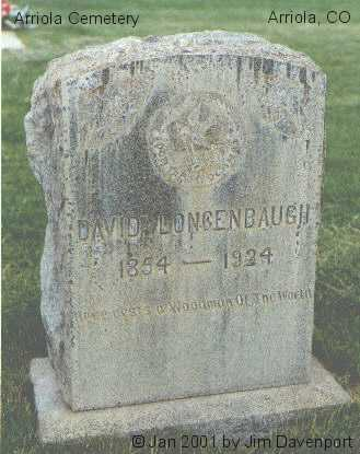 LONGENBAUGH, DAVID - Montezuma County, Colorado   DAVID LONGENBAUGH - Colorado Gravestone Photos