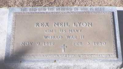 LYON, REX NEIL - Montezuma County, Colorado | REX NEIL LYON - Colorado Gravestone Photos