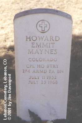 MAYNES, HOWARD EMMIT - Montezuma County, Colorado | HOWARD EMMIT MAYNES - Colorado Gravestone Photos
