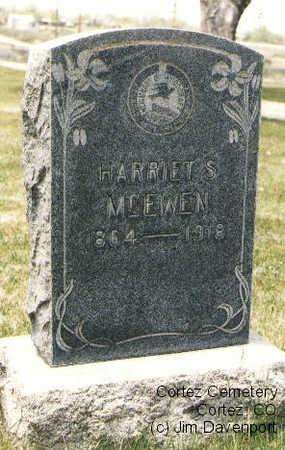 MCEWEN, HARRIET S. - Montezuma County, Colorado | HARRIET S. MCEWEN - Colorado Gravestone Photos
