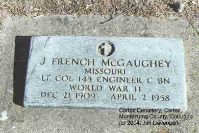 MCGAUGHEY, J. FRENCH - Montezuma County, Colorado | J. FRENCH MCGAUGHEY - Colorado Gravestone Photos