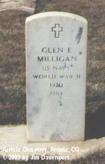 MILLIGAN, GLEN E. - Montezuma County, Colorado | GLEN E. MILLIGAN - Colorado Gravestone Photos