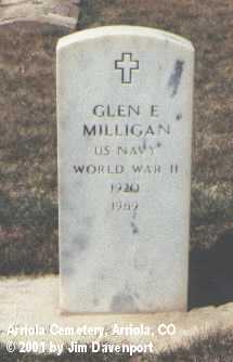 MILLIGAN, GLEN E. - Montezuma County, Colorado | GLEN E. MILLIGAN - Colorado Gravestone Photos