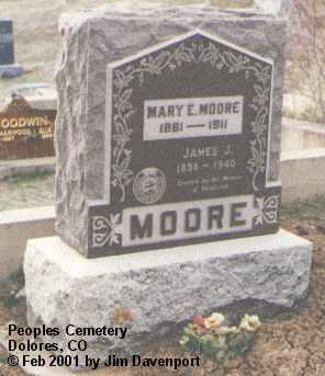 MOORE, MARY E. - Montezuma County, Colorado | MARY E. MOORE - Colorado Gravestone Photos