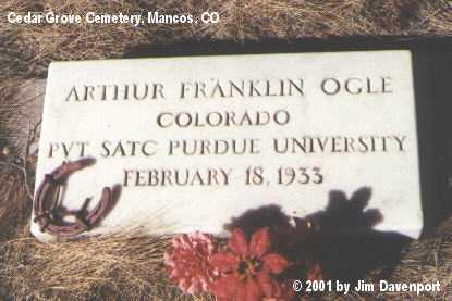 OGLE, ARTHUR FRANKLIN - Montezuma County, Colorado | ARTHUR FRANKLIN OGLE - Colorado Gravestone Photos