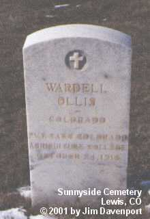 OLLIS, WARDELL - Montezuma County, Colorado | WARDELL OLLIS - Colorado Gravestone Photos