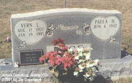 PAGE, VERN L. - Montezuma County, Colorado | VERN L. PAGE - Colorado Gravestone Photos
