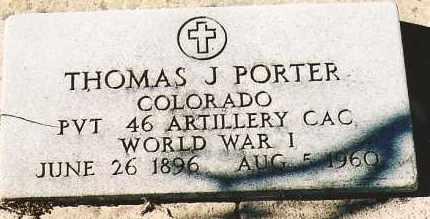 PORTER, THOMAS J. - Montezuma County, Colorado | THOMAS J. PORTER - Colorado Gravestone Photos
