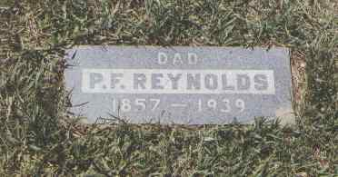 REYNOLDS, P. F. - Montezuma County, Colorado   P. F. REYNOLDS - Colorado Gravestone Photos