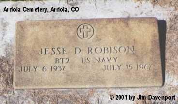 ROBINSON, JESSE D. - Montezuma County, Colorado | JESSE D. ROBINSON - Colorado Gravestone Photos