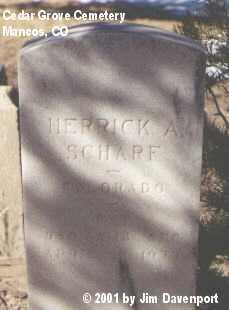 SCHARF, HERRICK A. - Montezuma County, Colorado   HERRICK A. SCHARF - Colorado Gravestone Photos