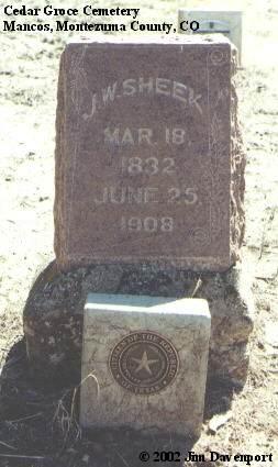 SHEEK, J. W. - Montezuma County, Colorado | J. W. SHEEK - Colorado Gravestone Photos