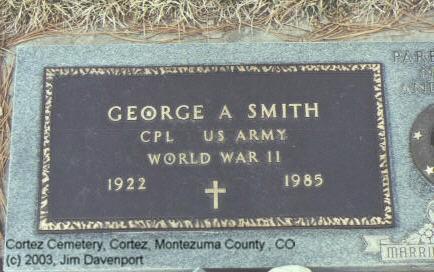 SMITH, GEORGE A. - Montezuma County, Colorado   GEORGE A. SMITH - Colorado Gravestone Photos