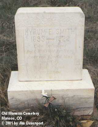 SMITH, HYRUM E. - Montezuma County, Colorado   HYRUM E. SMITH - Colorado Gravestone Photos