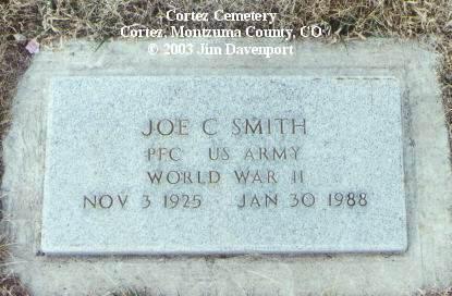 SMITH, JOE C. - Montezuma County, Colorado   JOE C. SMITH - Colorado Gravestone Photos