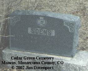 SOENS, ARABELLA W. - Montezuma County, Colorado | ARABELLA W. SOENS - Colorado Gravestone Photos