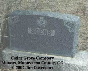 SOENS, ARABELLA W. - Montezuma County, Colorado | ARABELLA W. SOENS - Colorado Gravestone Photos