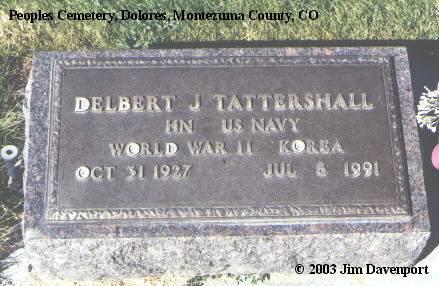 TATTERSHALL, DELBERT G. - Montezuma County, Colorado | DELBERT G. TATTERSHALL - Colorado Gravestone Photos