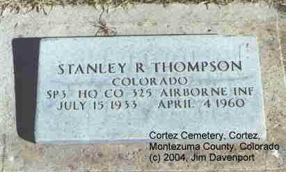 THOMPSON, STANLEY R. - Montezuma County, Colorado | STANLEY R. THOMPSON - Colorado Gravestone Photos