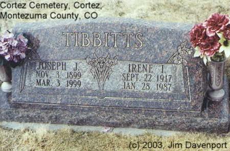 TIBBITTS, IRENE I. - Montezuma County, Colorado | IRENE I. TIBBITTS - Colorado Gravestone Photos