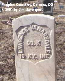 VANARSDALE, LAWRENCE - Montezuma County, Colorado | LAWRENCE VANARSDALE - Colorado Gravestone Photos