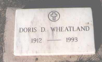 WHEATLAND, DORIS D. - Montezuma County, Colorado   DORIS D. WHEATLAND - Colorado Gravestone Photos