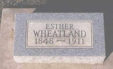 WHEATLAND, ESTHER - Montezuma County, Colorado | ESTHER WHEATLAND - Colorado Gravestone Photos