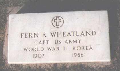 WHEATLAND, FERN R. - Montezuma County, Colorado | FERN R. WHEATLAND - Colorado Gravestone Photos