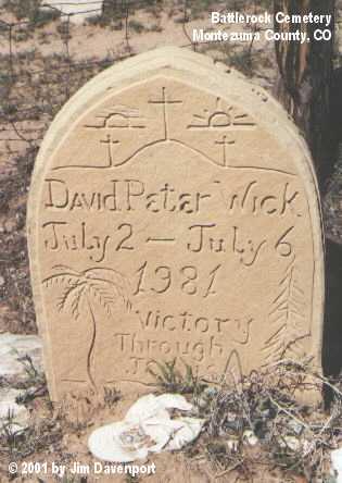 WICK, DAVID PETER - Montezuma County, Colorado   DAVID PETER WICK - Colorado Gravestone Photos