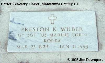 WILBER, PRESTON K. - Montezuma County, Colorado | PRESTON K. WILBER - Colorado Gravestone Photos