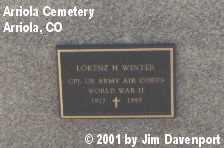 WINTER, LORENZ H. - Montezuma County, Colorado | LORENZ H. WINTER - Colorado Gravestone Photos