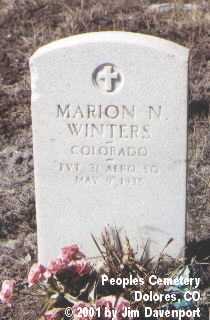 WINTERS, MARION N. - Montezuma County, Colorado | MARION N. WINTERS - Colorado Gravestone Photos
