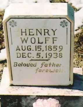WOLFF, HENRY - Montezuma County, Colorado | HENRY WOLFF - Colorado Gravestone Photos