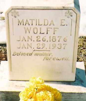 WOLFF, MATILDA E. - Montezuma County, Colorado | MATILDA E. WOLFF - Colorado Gravestone Photos