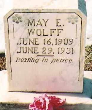 WOLFF, MAY E. - Montezuma County, Colorado | MAY E. WOLFF - Colorado Gravestone Photos