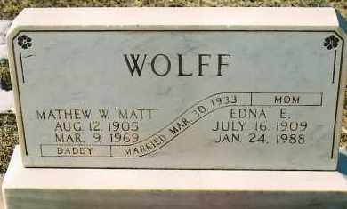 "WOLFF, MATHEW W. ""MATT"" - Montezuma County, Colorado 