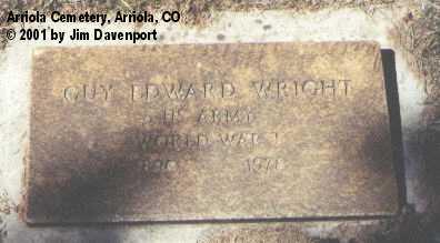 WRIGHT, GUY EDWARD - Montezuma County, Colorado   GUY EDWARD WRIGHT - Colorado Gravestone Photos
