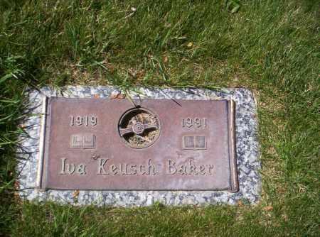 DEVOR (DEVORE) BAKER, IVA KEUSCH - Montrose County, Colorado | IVA KEUSCH DEVOR (DEVORE) BAKER - Colorado Gravestone Photos