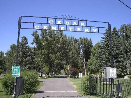 CEDAR CEMETERY, GATE - Montrose County, Colorado | GATE CEDAR CEMETERY - Colorado Gravestone Photos