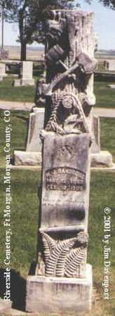 DANDRIDGE, W. J. - Morgan County, Colorado | W. J. DANDRIDGE - Colorado Gravestone Photos