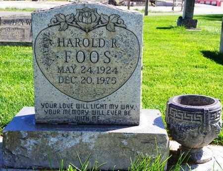 FOOS, HAROLD R. - Morgan County, Colorado   HAROLD R. FOOS - Colorado Gravestone Photos